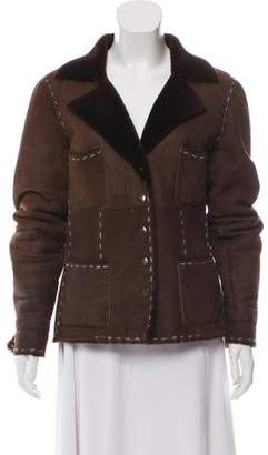 Salvatore Ferragamo Short Shearling Jacket