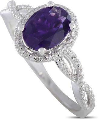 Generic Gemstones 14K 0.10 Ct. Tw. Diamond & Amethyst Ring
