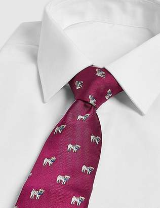 Marks and Spencer Pure Silk Dog Design Tie