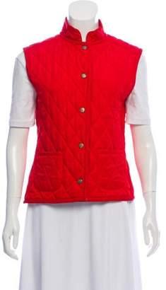 Burberry Quilted Mandarin Collar Vest
