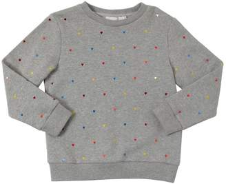 Stella McCartney Heart Appliqués Cotton Sweatshirt