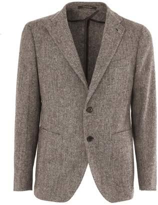 Tagliatore Brown Virgin Wool Jacket.