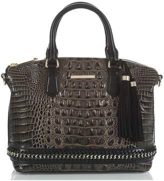 Brahmin Duxbury Chain Trim Leather Satchel
