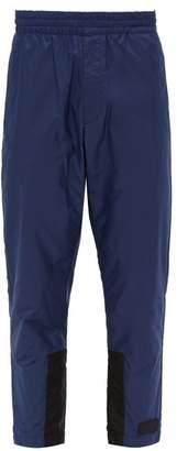 Prada Nylon Track Pants - Mens - Blue Multi