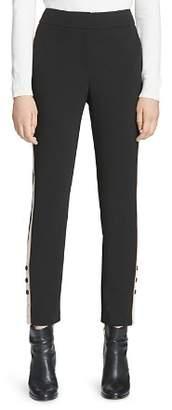Calvin Klein Button Track Stripe Pants