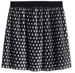 MANGO Polka dots metallic skirt