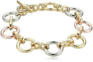 Kenneth Cole New York Kenneth Cole New Women's Trinity Rings Tri-Tone Link Bracelet