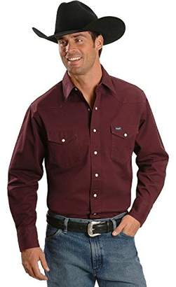 Wrangler Men's Big & Tall Cowboy Cut Western Long Sleeve Snap Workshirt