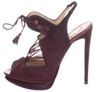 Nicholas Kirkwood Ponyhair Platform Sandals