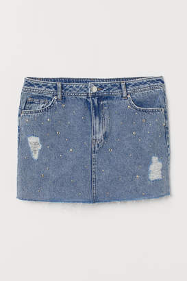 H&M Denim Skirt with Studs - Blue