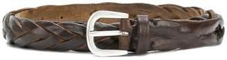 Italian Belts woven detail belt