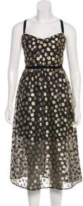 For Love & Lemons Polka Dot Knee-Length dress w/ Tags