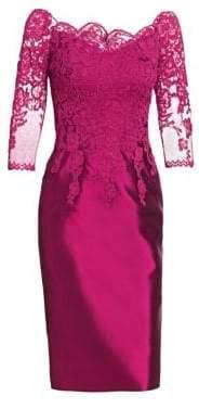 Lace Bodice Cocktail Dress