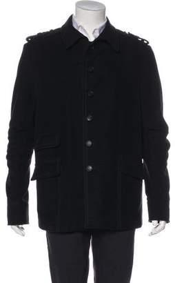 Gucci Velour Button-Up Coat