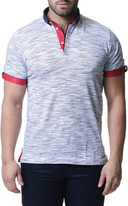 Maceoo Variable Jersey Contrast-Trim Polo Shirt