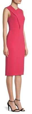 Jason Wu Twist Flounce Compact Crepe Dress