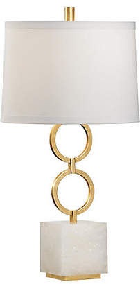 Chelsea House Henry Agate Table Lamp - Gold/White