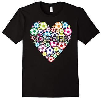 Soccer T Shirt I Love Heart Soccer Football tees