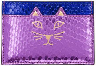 Charlotte Olympia Purple and Blue Snake Feline Card Holder