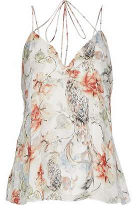 Haute Hippie Light Side Of The Phoenix Printed Silk Crepe De Chine Camisole