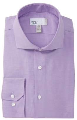 Nordstrom Rack Solid Twill Trim Fit Dress Shirt