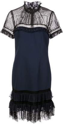 Jonathan Simkhai high neck lace dress