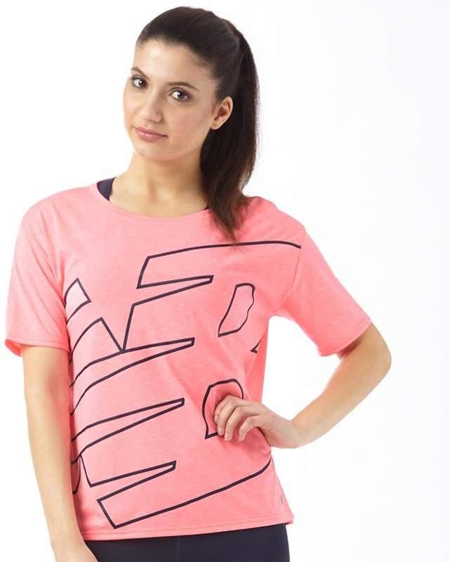 Damen Novelty Fashion T-Shirt Fluo Rosa