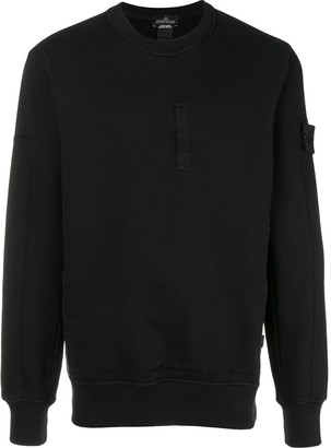Stone Island Shadow Project long-sleeve fitted sweatshirt