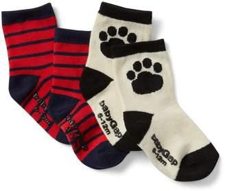 Gap Dog Print Crew Socks (2-Pairs)
