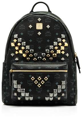 "MCM Visetos Stark ""M"" Stud Backpack"