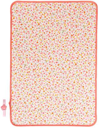 Mikihouse (ミキハウス) - ミキハウスベビー 小花柄&ドット柄♪おでかけマット【オレンジ】