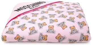 Moschino Kids teddy bear print blanket