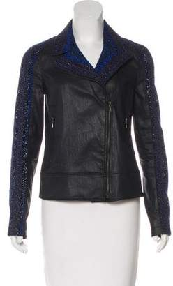 7 For All Mankind Seven Tweed-Paneled Moto Jacket
