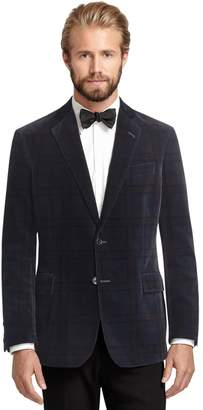 Brooks Brothers Regent Fit Tartan Velvet Dinner Jacket