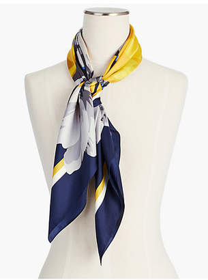 Talbots Floral Silk Square Scarf