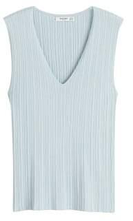 MANGO Ribbed knit top