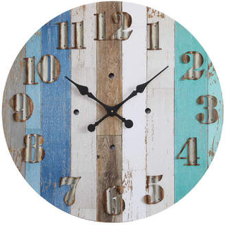 Highland Dunes Haubert Round MDF Wall Clock