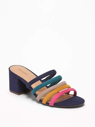 567e168d74 Old Navy Strappy Faux-Suede Block-Heel Mules for Women
