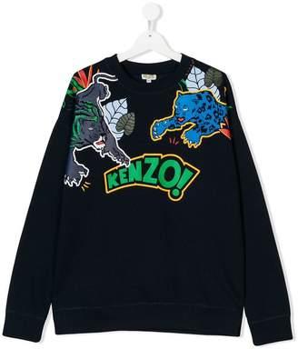 Kenzo TEEN jungle animal print sweatshirt