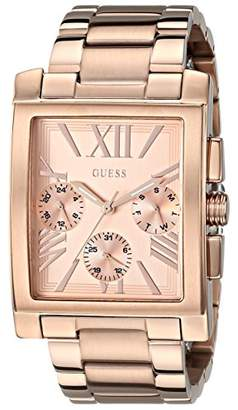 GUESS Women's U0450L3 Sophisticated Classic Rose Gold-Tone Multi-Function Watch