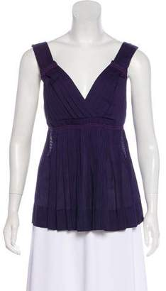 Marc by Marc Jacobs Pleated Sleeveless Top