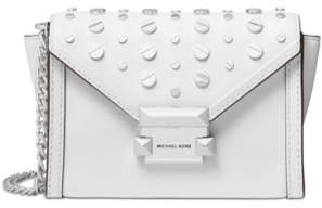 Michael Kors Michael Leather Studded Convertible Small Crossbody Belt Bag