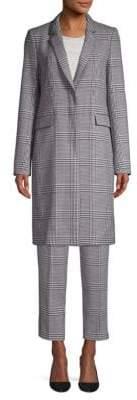 BOSS Glen Check Stretch Trench Coat