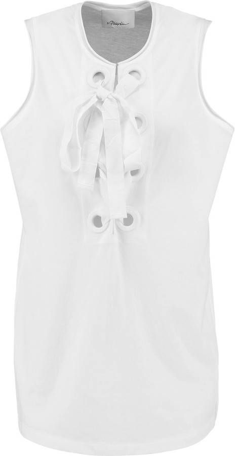 3.1 Phillip Lim 3.1 Phillip Lim Lace-up cotton-jersey tank