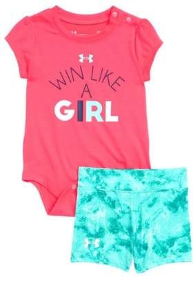 Under Armour It's Called Girl Power Bodysuit & Shorts Set