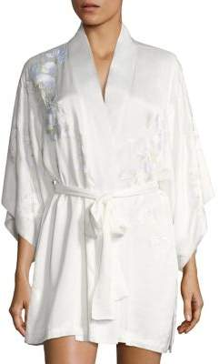 Natori Orchid Embroidered Robe