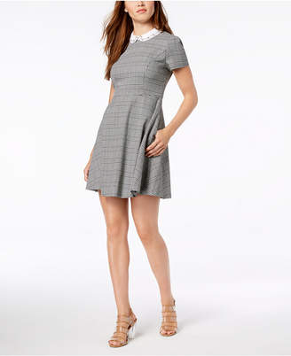 Maison Jules Embellished Fit & Flare Dress, Created for Macy's