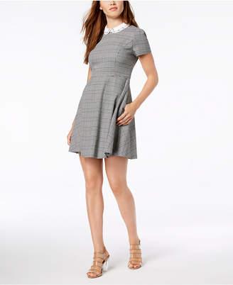 Maison Jules Embellished Fit & Flare Dress
