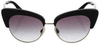 Dolce & Gabbana Logo Cat-Eye Sunglasses