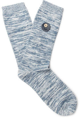Folk Melangé Cotton-Blend Socks